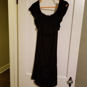 Lux & Co black maternity dress